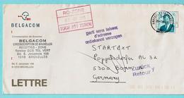N°2535 Op Omslag, Afst. BRUSSEL 29/01/1995 Naar BONN 02/02/1995 + RETOUR + PARTI SANS LAISSER D'ADRESSE - België