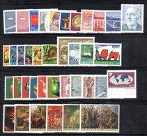 YUG1976 - YUGOSLAVIA 1976, L'annata Di Commemorativi Senza BF : Composizione Come Da Scan ***  MNH - Jugoslavia