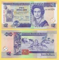Belize 2 Dollars P-66e 2014 UNC - Belize