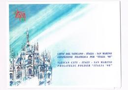 FOLDER - ITALIA '98 - FDC - Emissione Congiunta Italia - San Marino - Città Del Vaticano - Pochettes