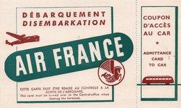 AIR FRANCE Carte De Débarquement & Coupon D'Accès Au Car - Cartes D'embarquement