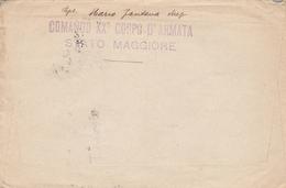 """LSC 1918 D'Italie Pour Paris  - Griffe """" COMANDO XXè CORPO D'ARMATA - STATTO MAGGIORE """" Cachet Posta Militare 33 - 1900-44 Victor Emmanuel III"""