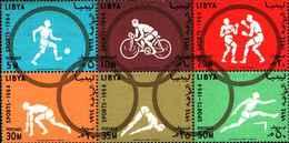 72503)  1964 LIBYA Kingdom  Nr.8199 SPORTS PRICE 100 MILLS-6 Stamps-g332-MNH** - Libia