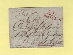 Royaume D Italie Par Verceil - 1812 - Lettre De Milan Pour Casal Montfrate - Departement Conquis De La Sesia - 1792-1815: Conquered Departments