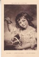 JOHN RUSSEL. L'ENFANT AUX CERISES/GIRL WITH CHERRIES. MUSEE DU LOUVRE. BRAUN & CIE. CIRCA 1910s NON CIRCULEE- BLEUP - Peintures & Tableaux