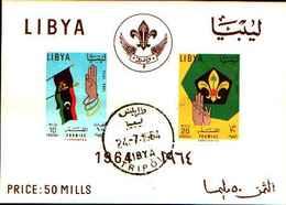72505)  LIBYA LIBIA MNH** Nuovi** 1964 Scouting Day BF.7-USATO - Libia
