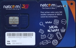 HAITI NATCOM GSM (SIM) CARD BLUE MINT UNUSED - Haïti