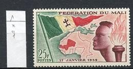 Mali 1959 Y&T N°1 - Michel N°1 * - 25f Création De La Fédération Du Mali - Mali (1959-...)