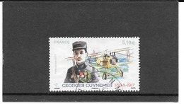 FRANCE 2017   GEORGES GUYNEMER ( 1894-1917 )    TIMBRE GOMME CACHET ROND. PA.  Y&T: N°81 - Poste Aérienne