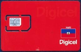 HAITI DIGICEL GSM (SIM) CARD RED MINT UNUSED - Haiti