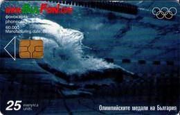 TARJETA TELEFONICA DE BULGARIA, OLYMPICS, SWIMMING, FON-C-0270. (153) - Juegos Olímpicos