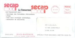 SECAP NP W 0012 SPECIM Enveloppe Publicitaire SECAP Ob 23 4 1991 Tarif 18,30 F Soit Lettre Recommandée Du 2° Ech - Marcophilie (Lettres)