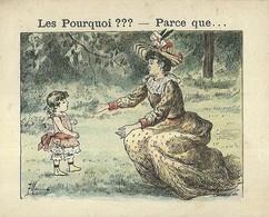 "1387 "" LES POURQUOI ??? ..... PARCE QUE ..... "" FIGURINA DIDATTICA FRANCESE  ORIGINALE - Libri, Riviste, Fumetti"