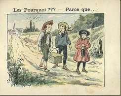 "1388 "" LES POURQUOI ??? ..... PARCE QUE ..... "" FIGURINA DIDATTICA FRANCESE  ORIGINALE - Libri, Riviste, Fumetti"