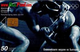 TARJETA TELEFONICA DE BULGARIA, OLYMPICS, Freestyle Wrestling, FON-C-0275. (149) - Juegos Olímpicos