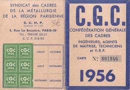 C.G.C CONFEDERATION GENERALE DES CADRES  CARTE N°801946-  1956 - Kaarten