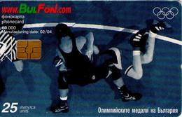 TARJETA TELEFONICA DE BULGARIA, OLYMPICS, Greco - Roman Wrestling, FON-C-0273. (150) - Juegos Olímpicos