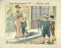 "1391 "" LES POURQUOI ??? ..... PARCE QUE ..... "" FIGURINA DIDATTICA FRANCESE  ORIGINALE - Libri, Riviste, Fumetti"