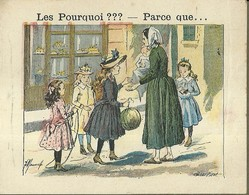 """1392 """" LES POURQUOI ??? ..... PARCE QUE ..... """" FIGURINA DIDATTICA FRANCESE  ORIGINALE - 0-6 Anni"""