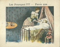 "1394 "" LES POURQUOI ??? ..... PARCE QUE ..... "" FIGURINA DIDATTICA FRANCESE  ORIGINALE - Libri, Riviste, Fumetti"