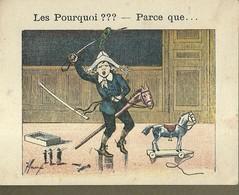 "1395 "" LES POURQUOI ??? ..... PARCE QUE ..... "" FIGURINA DIDATTICA FRANCESE  ORIGINALE - Libri, Riviste, Fumetti"