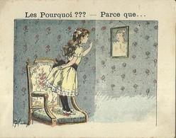 "1397 "" LES POURQUOI ??? ..... PARCE QUE ..... "" FIGURINA DIDATTICA FRANCESE  ORIGINALE - Libri, Riviste, Fumetti"