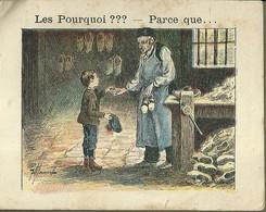"1398 "" LES POURQUOI ??? ..... PARCE QUE ..... "" FIGURINA DIDATTICA FRANCESE  ORIGINALE - Libri, Riviste, Fumetti"