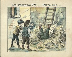 """1399 """" LES POURQUOI ??? ..... PARCE QUE ..... """" FIGURINA DIDATTICA FRANCESE  ORIGINALE - 0-6 Anni"""