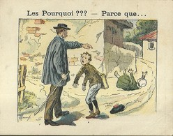 """1400 """" LES POURQUOI ??? ..... PARCE QUE ..... """" FIGURINA DIDATTICA FRANCESE  ORIGINALE - 0-6 Anni"""