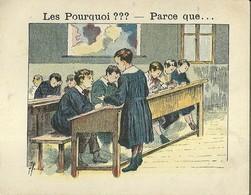 "1401 "" LES POURQUOI ??? ..... PARCE QUE ..... "" FIGURINA DIDATTICA FRANCESE  ORIGINALE - Libri, Riviste, Fumetti"