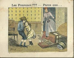 "1403 "" LES POURQUOI ??? ..... PARCE QUE ..... "" FIGURINA DIDATTICA FRANCESE  ORIGINALE - Libri, Riviste, Fumetti"