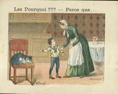 """1404 """" LES POURQUOI ??? ..... PARCE QUE ..... """" FIGURINA DIDATTICA FRANCESE  ORIGINALE - 0-6 Anni"""