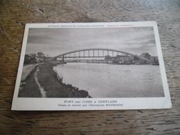 CPA De Conflans - Pont Sur L'Oise à Conflans - Conçu Et Réalisé Par L'Entreprise Boussiron - Conflans Saint Honorine