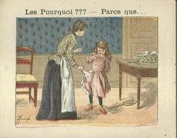 "1406 "" LES POURQUOI ??? ..... PARCE QUE ..... "" FIGURINA DIDATTICA FRANCESE  ORIGINALE - Libri, Riviste, Fumetti"