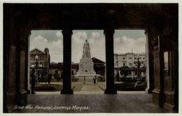 Mozambique, LOURENÇO MARQUES, Great War Memorial (1930s) Postcard - Mozambique