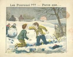 "1407 "" LES POURQUOI ??? ..... PARCE QUE ..... "" FIGURINA DIDATTICA FRANCESE  ORIGINALE - Libri, Riviste, Fumetti"