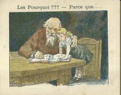 """1408 """" LES POURQUOI ??? ..... PARCE QUE ..... """" FIGURINA DIDATTICA FRANCESE  ORIGINALE - 0-6 Anni"""