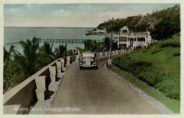 Mozambique, LOURENÇO MARQUES, Polona Beach, Car (1930s) Postcard - Mozambique