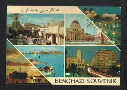 Libya Benghazi 4 Scene View Card Picture Postcard View Card - Libya