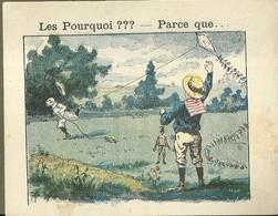 "1411 "" LES POURQUOI ??? ..... PARCE QUE ..... "" FIGURINA DIDATTICA FRANCESE  ORIGINALE - Libri, Riviste, Fumetti"