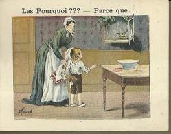 """1412 """" LES POURQUOI ??? ..... PARCE QUE ..... """" FIGURINA DIDATTICA FRANCESE  ORIGINALE - 0-6 Anni"""