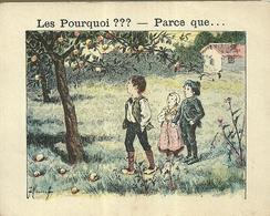 "1414 "" LES POURQUOI ??? ..... PARCE QUE ..... "" FIGURINA DIDATTICA FRANCESE  ORIGINALE - Libri, Riviste, Fumetti"