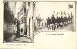 Tanzania, ZANZIBAR, Narrow Street Next To Africa Hotel, Sultan's Body Guard 1899 - Tanzania