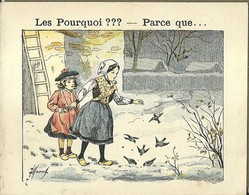 """1415 """" LES POURQUOI ??? ..... PARCE QUE ..... """" FIGURINA DIDATTICA FRANCESE  ORIGINALE - 0-6 Anni"""