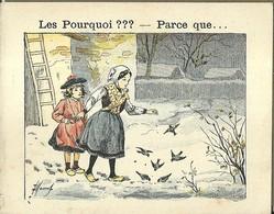 "1415 "" LES POURQUOI ??? ..... PARCE QUE ..... "" FIGURINA DIDATTICA FRANCESE  ORIGINALE - Libri, Riviste, Fumetti"