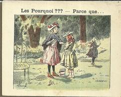 "1416 "" LES POURQUOI ??? ..... PARCE QUE ..... "" FIGURINA DIDATTICA FRANCESE  ORIGINALE - Libri, Riviste, Fumetti"