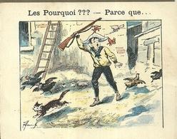 "1417 "" LES POURQUOI ??? ..... PARCE QUE ..... "" FIGURINA DIDATTICA FRANCESE  ORIGINALE - Libri, Riviste, Fumetti"