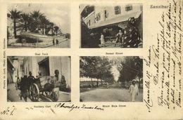 Tanzania, ZANZIBAR, Boat Tank, Mnazi Moja And Bazaar Street (1904) Postcard - Tanzania