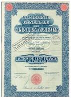 Ancienne Action - Compagnie Générale Des Comptoirs Africains - Titre De 1927 - Afrique