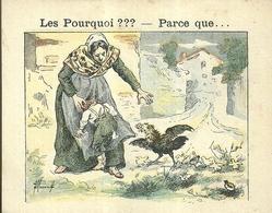 "1418 "" LES POURQUOI ??? ..... PARCE QUE ..... "" FIGURINA DIDATTICA FRANCESE  ORIGINALE - Libri, Riviste, Fumetti"